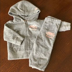 EUC Roots baby tracksuit